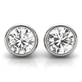 14k-White-Gold-Bezel-set-Lab-Diamond-Stud-Earrings-(1.00ct)