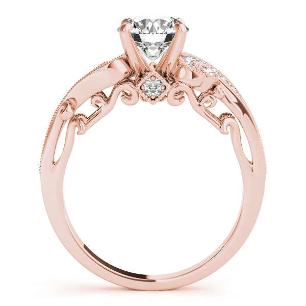 Promise Ring 50/% OFF  18K solid Gold  Engagement Ring 3 stone Heart Filigree Solid Gold  ring Diamond Engagement Ring